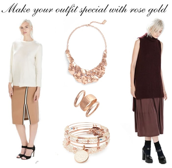 how to make your outfit special with rose gold jewellery | 40plusstyle.com