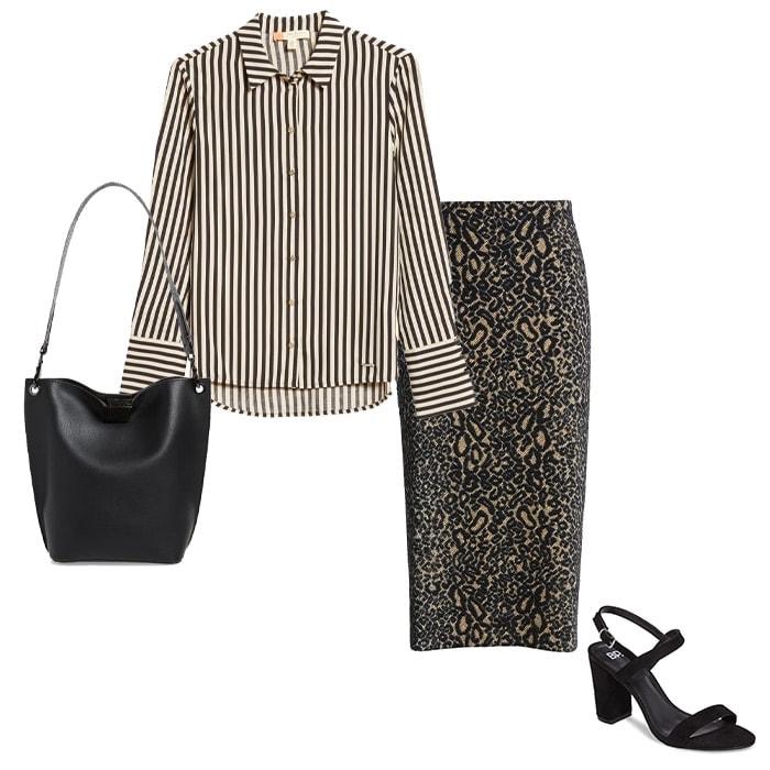 Clashing yet stylish prints with stripes | 40plusstyle.com