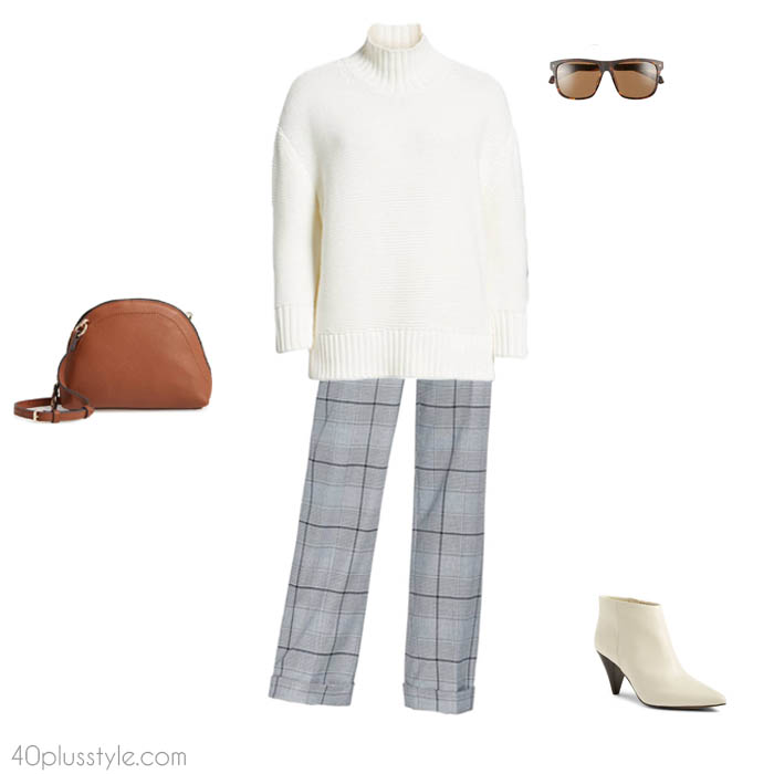 Plaid pants - How to dress like Victoria Beckham | 40plusstyle.com