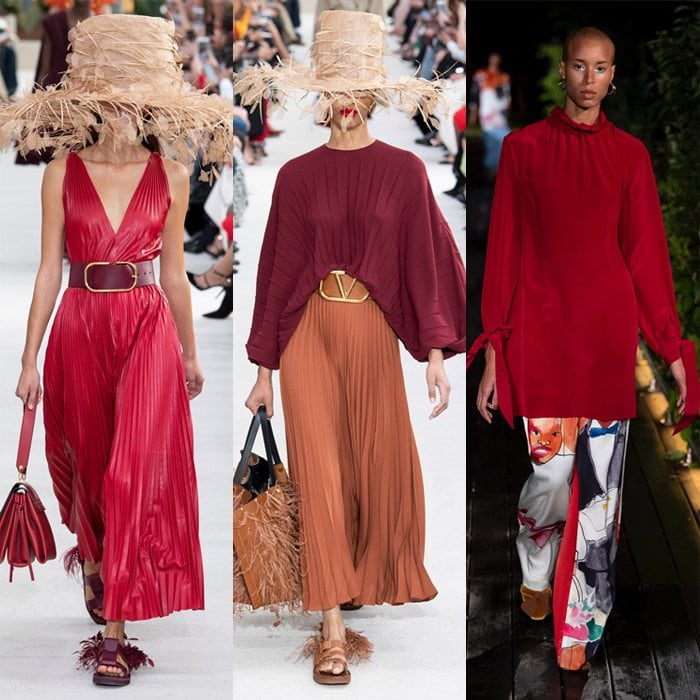 Burgundy for spring and summer   40plusstyle