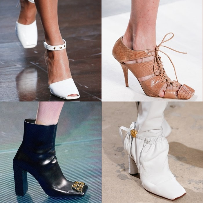 Spring / summer 2019 shoe trends: Square-toed shoes for women over 40 | 40plusstyle.com