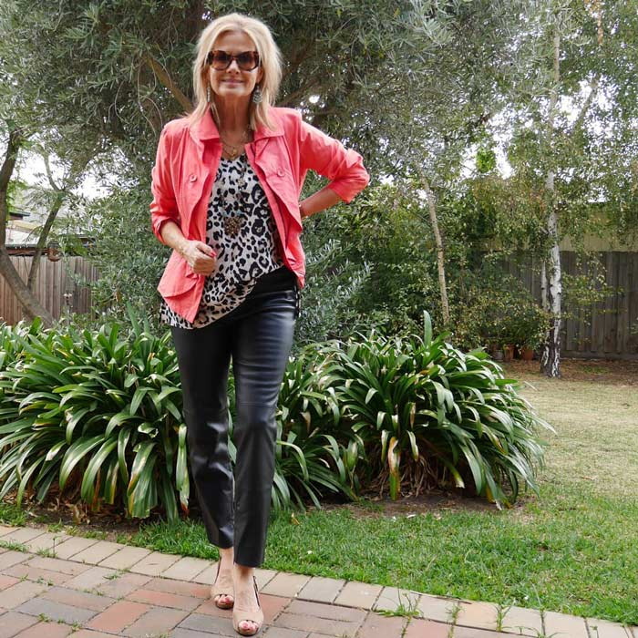 coral blazer | 40plusstyle.com