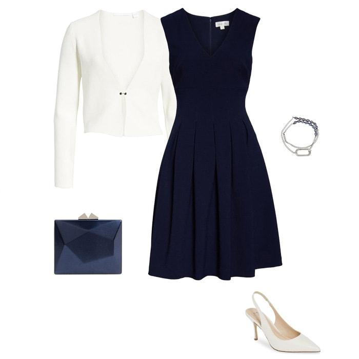 Knee Length Dress for petite women | fashion over 40 | style | fashion | 40plusstyle.com
