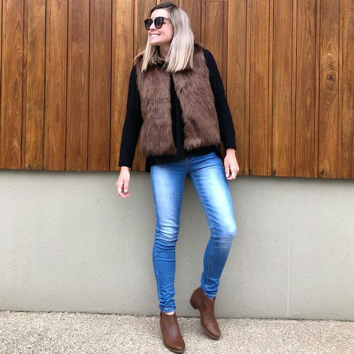 faux fur vest | 40plusstyle.com