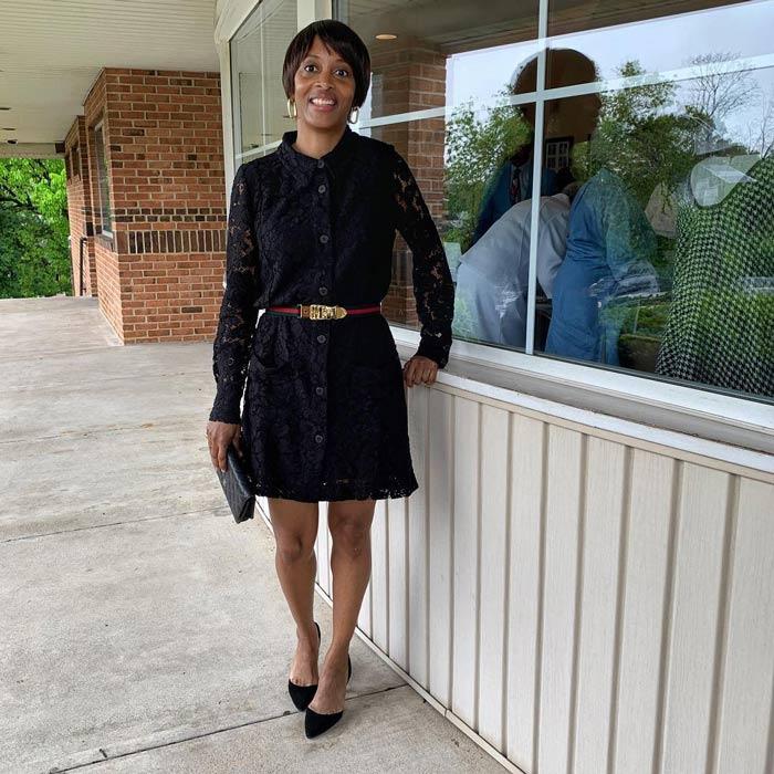 lace shirtdress | 40plusstyle.com
