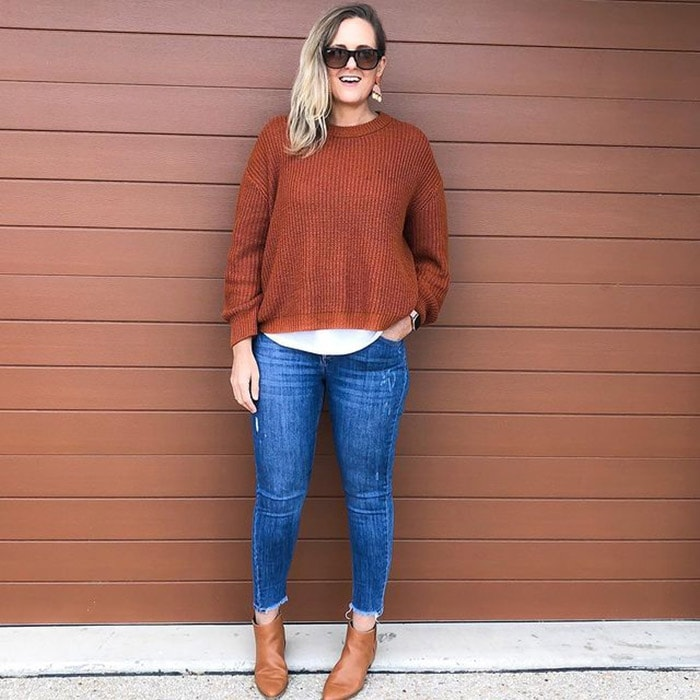 Round neck sweaters for women | 40plusstyle.com