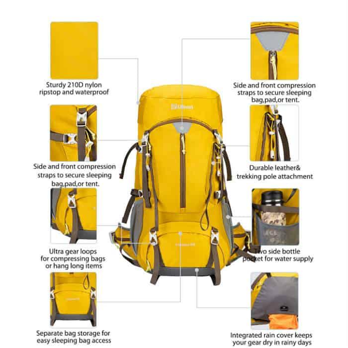 Ubon ventilated hiking backpack - photo 3