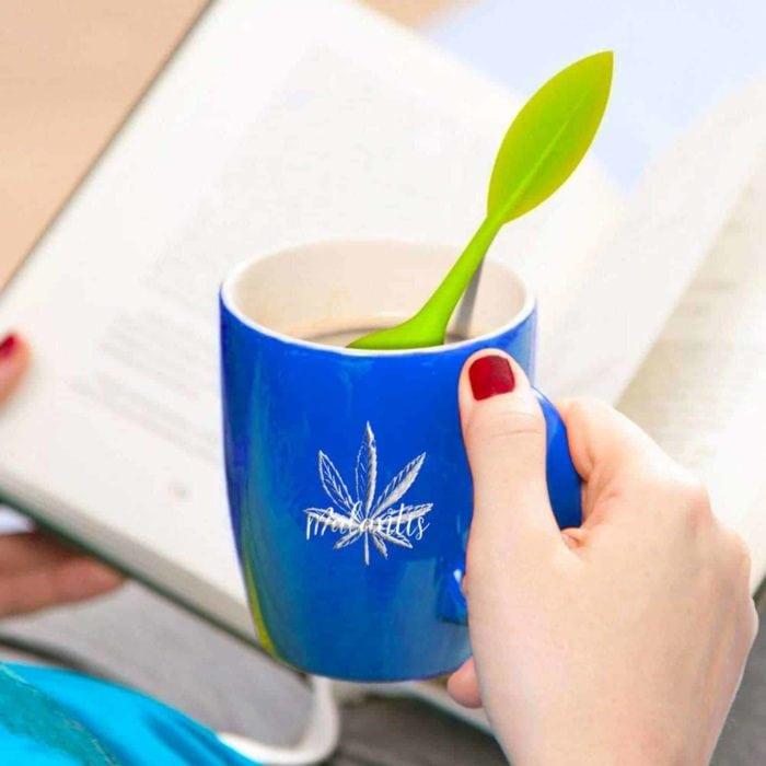 Tee Sieb Teeei grünes Blatt