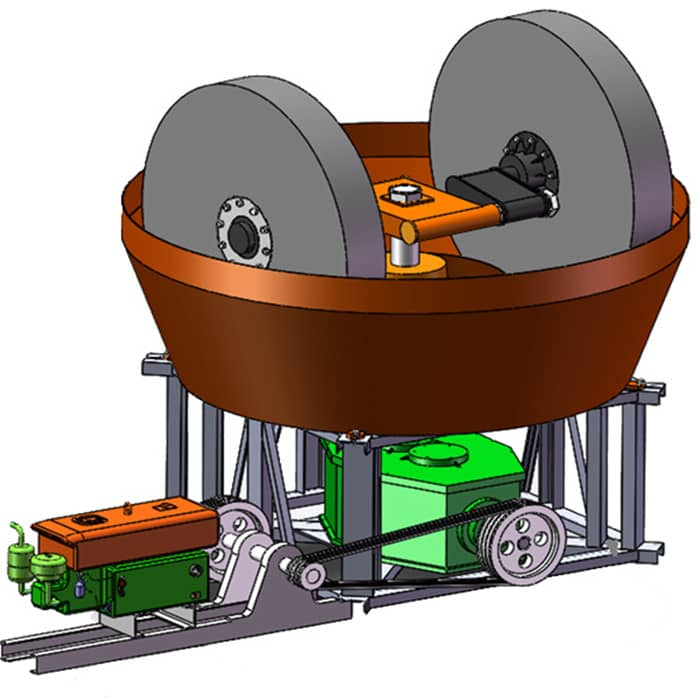 diesel engine wet pan mill