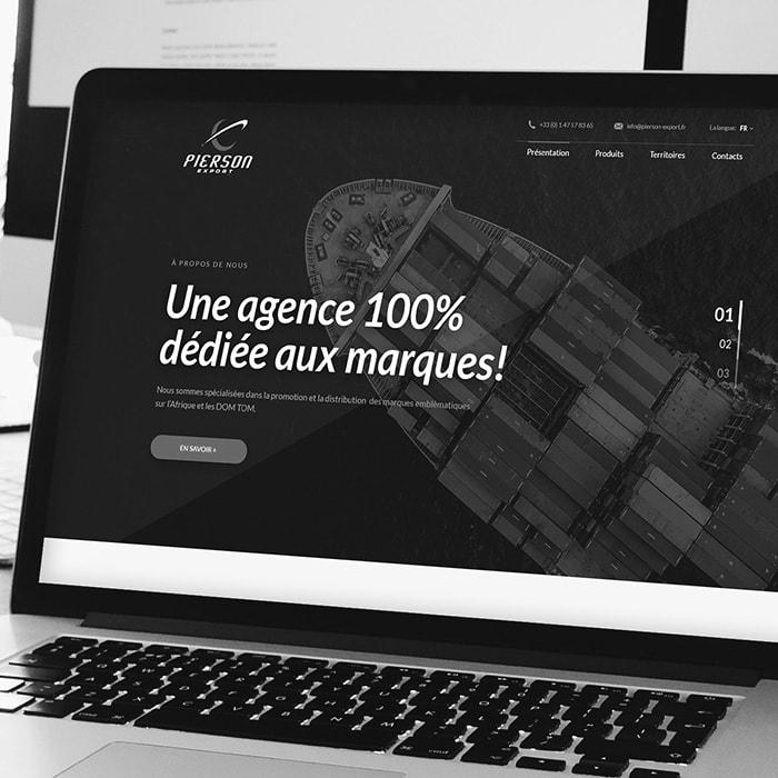 projekt strony internetowej pierson-export