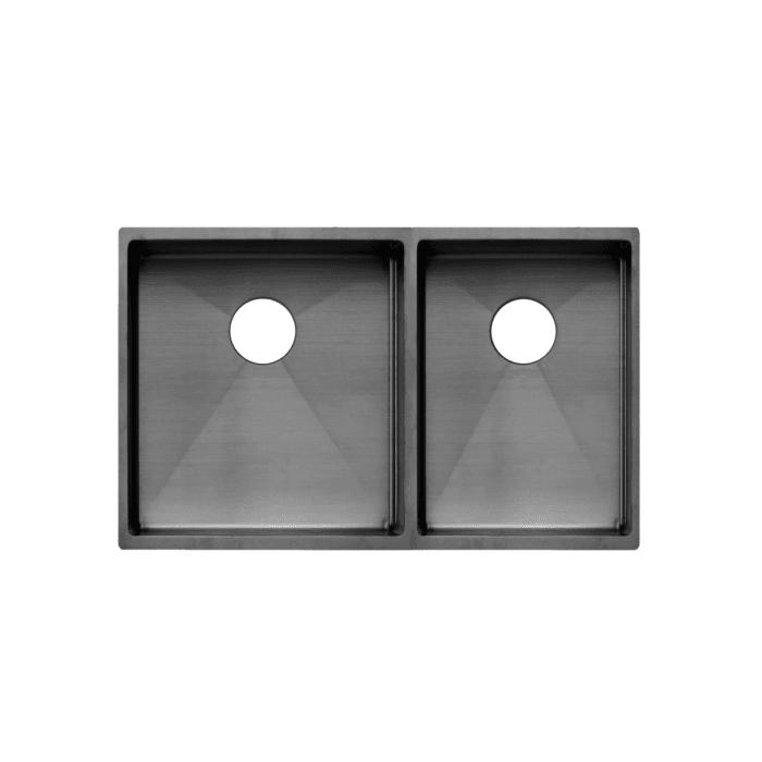 Vita Double Kitchen Sink 760mm - Gunmetal