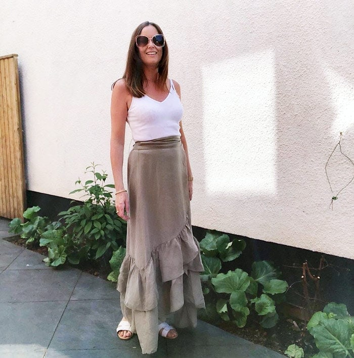 vest top and maxi skirt | 40plusstyle.com