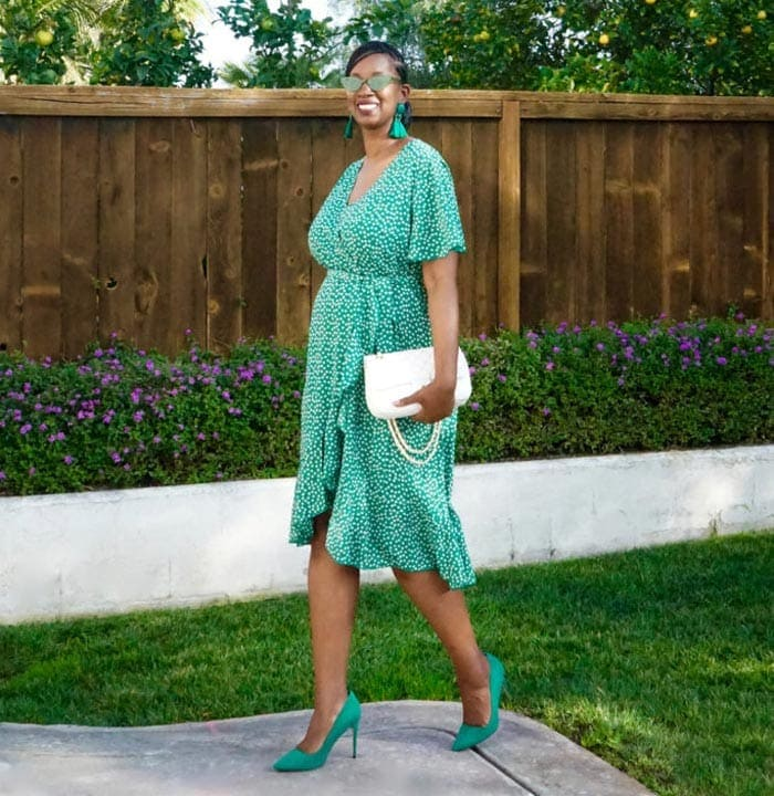 an all green outfit | 40plusstyle.com