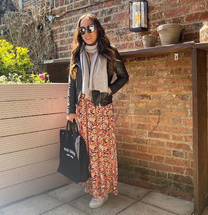 Travel clothes for women - transitional weather outfit idea | 40plusstyle.com