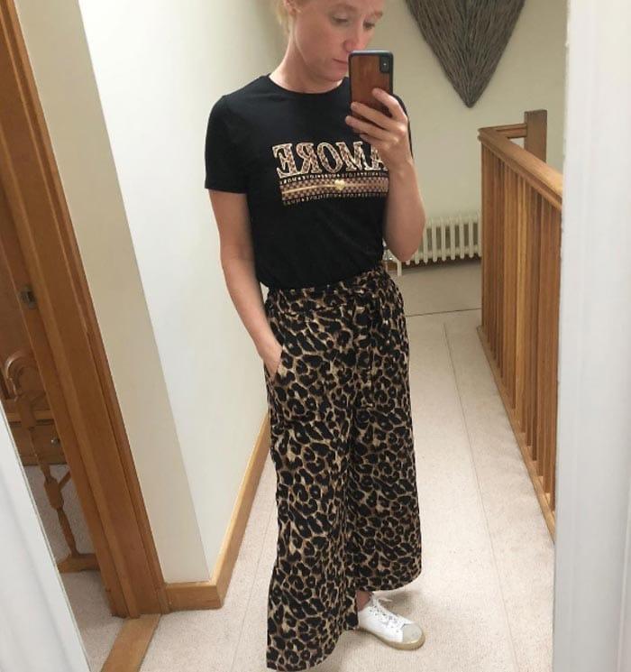 Animal print pants | 40plusstyle.com