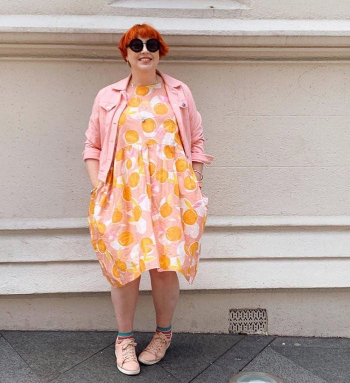 pink and orange outfit | 40plusstyle.com