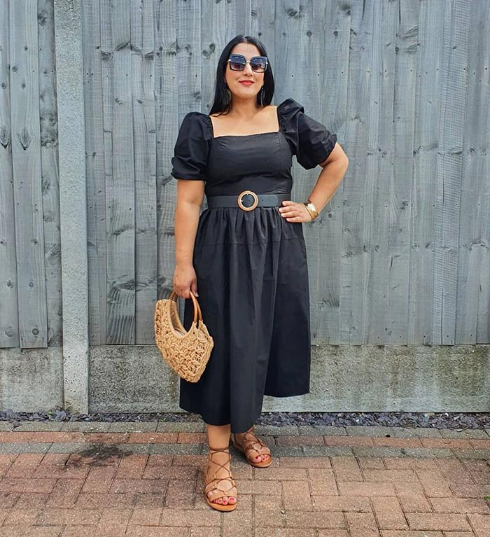 Jas wears the perfect little black dress for summer | 40plusstyle.com