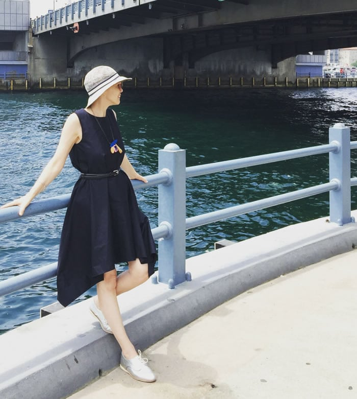 Cos navy dress | 40plusstyle.com