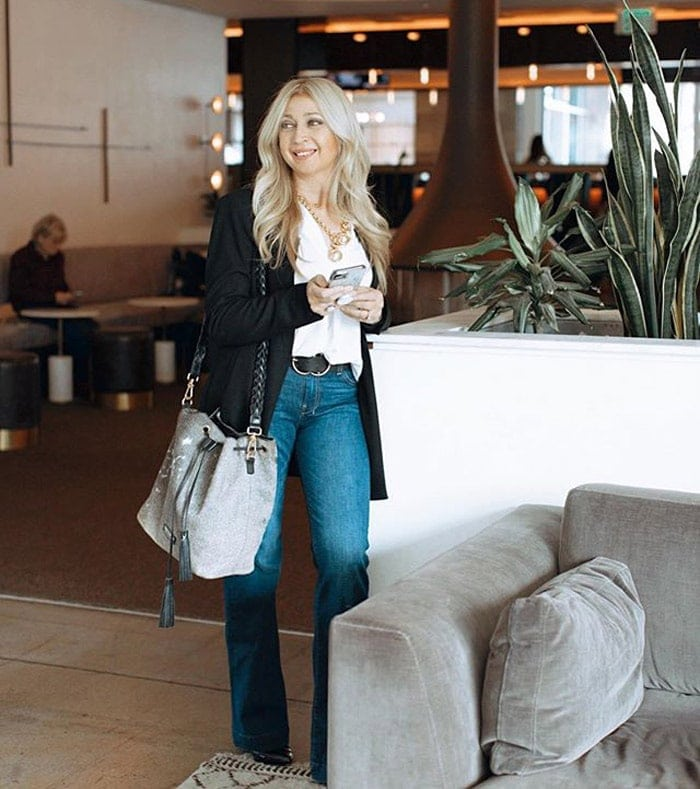 wearing jeans with heels when you are petite | 40plusstyle.com