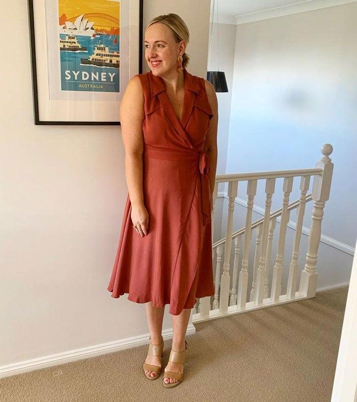 a flattering wrap dress | 40plusstyle.com