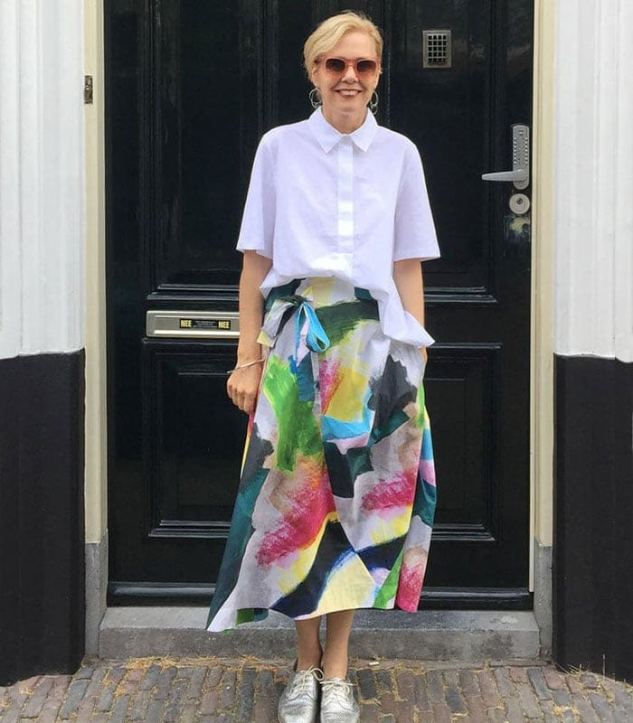 Top and skirt from COS | 40plusstyle.com