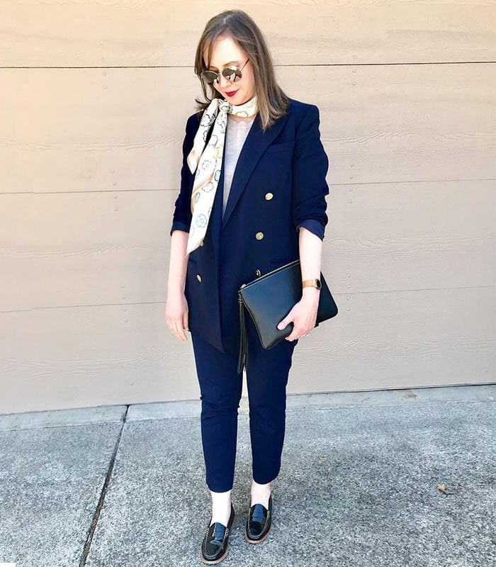 Psychology of color: navy | 40plusstyle.com