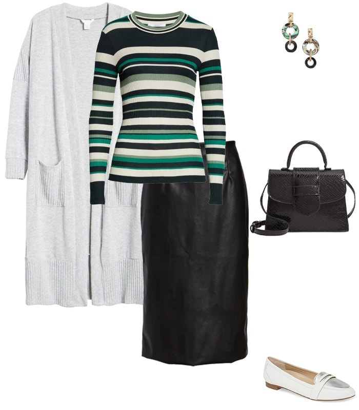 Leather look skirt: Opt for faux  | 40plusstyle.com