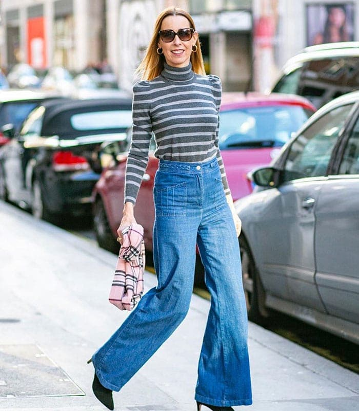 How to dress the inverted triangle body shape | 40plusstyle.com