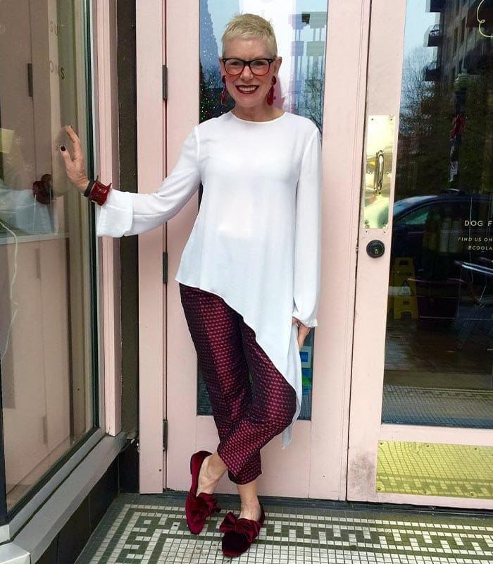 How to wear asymmetrical clothing - Asymmetric tops and dresses to fall in love with | 40plusstyle.com