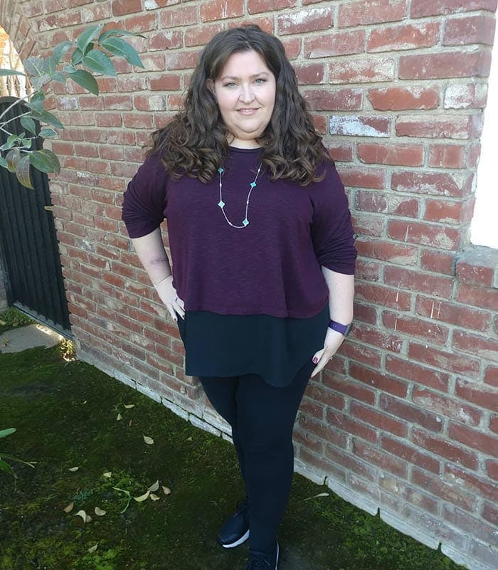 Tunic top worn with leggings | 40plusstyle.com