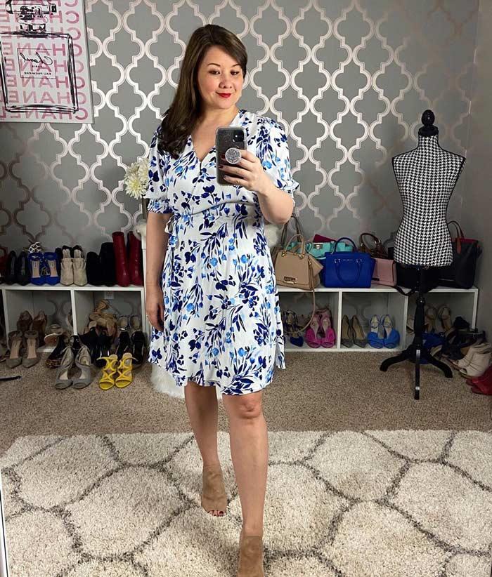 floral dress | 40plusstyle.com