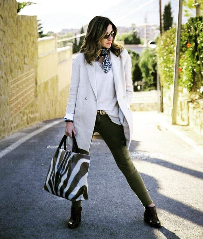 olive green and cream | 40plusstyle.com