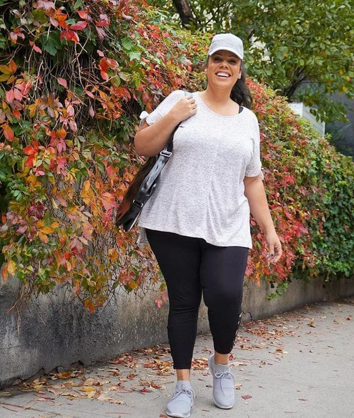 Plantar fasciitis shoes for women - Madeline in running shoes   40plusstyle.com