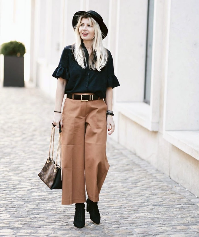 European style personality outfit | 40plusstyle.com