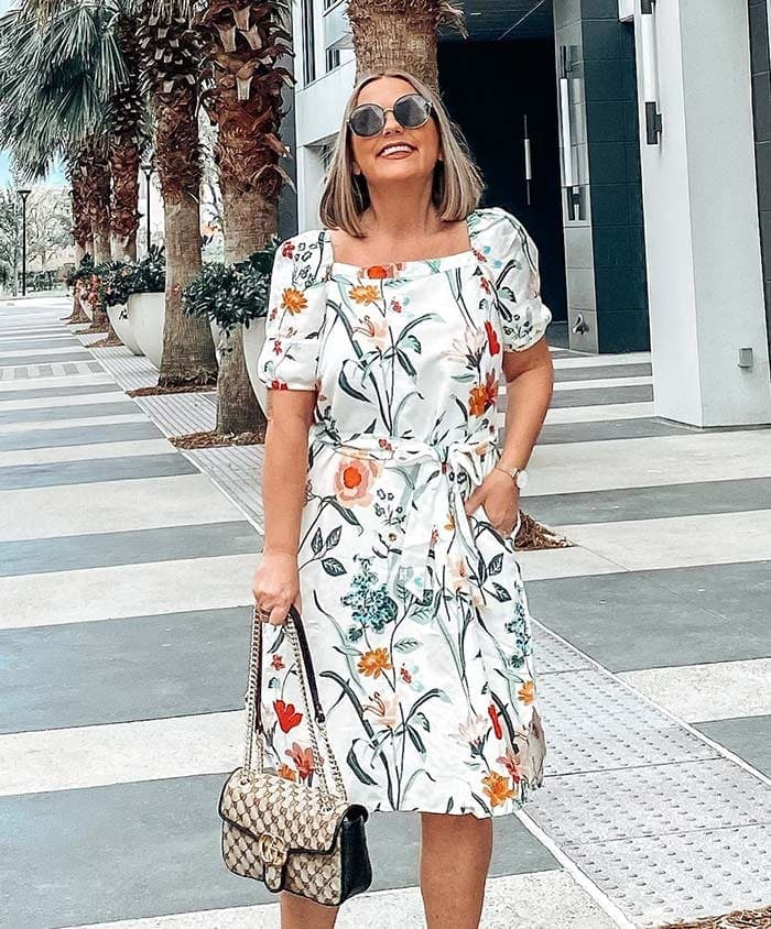 Fit and flare dress for the pear shape | 40plusstyle.com