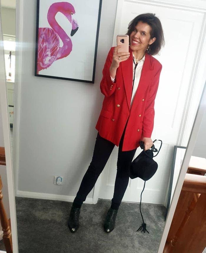 how to wear an oversized blazer | 40plusstyle.com