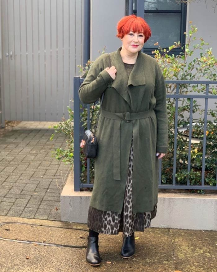 green belted coat | 40plusstyle.com