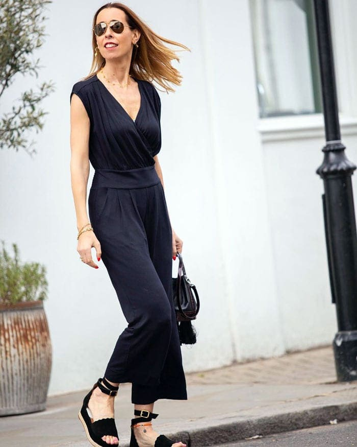 how to find a jumpsuit for tall women | 40plusstyle.com