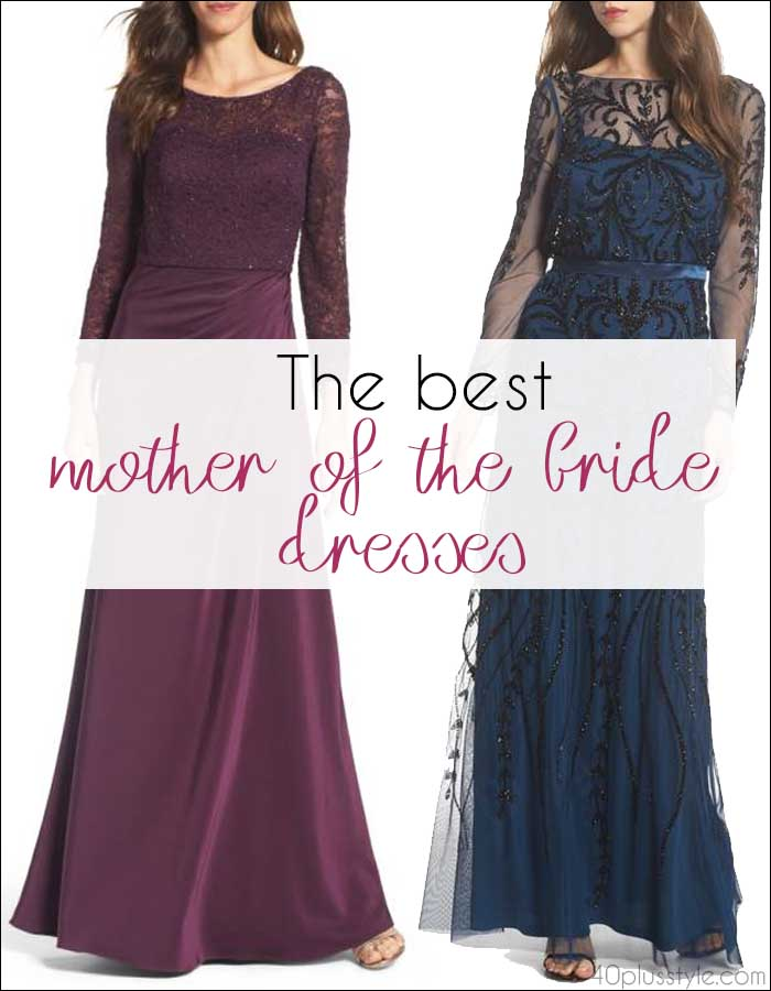 The best mother of the bride dresses - take your pick from shorter or longer dresses | 40plusstyle.com