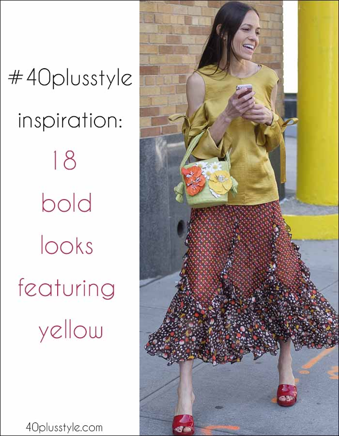 #40plusstyle inspiration: 18 bold looks featuring yellow | 40plusstyle.com