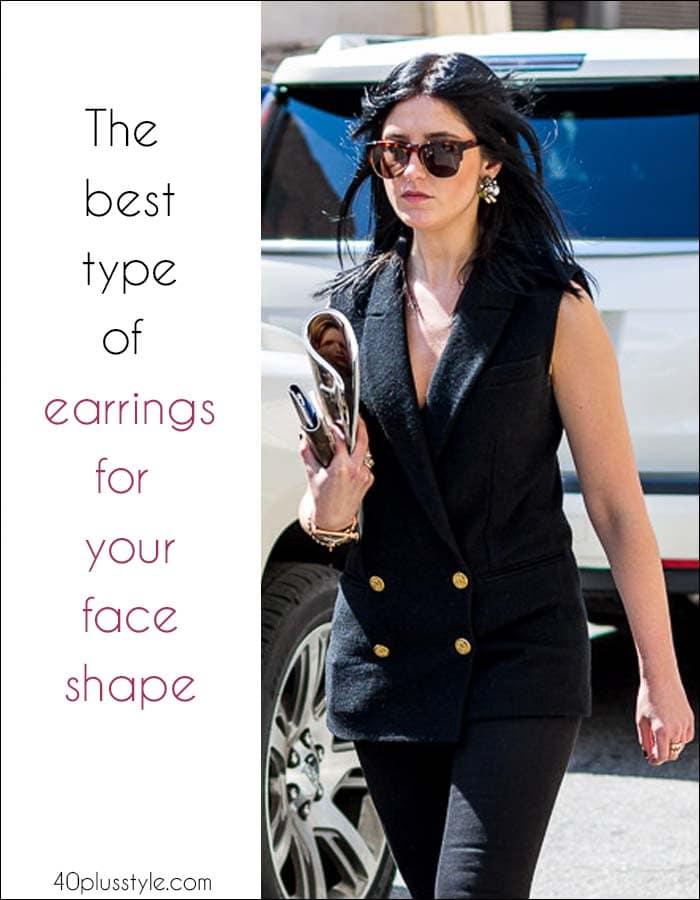 The best types of earrings for your face shape | 40plusstyle.com