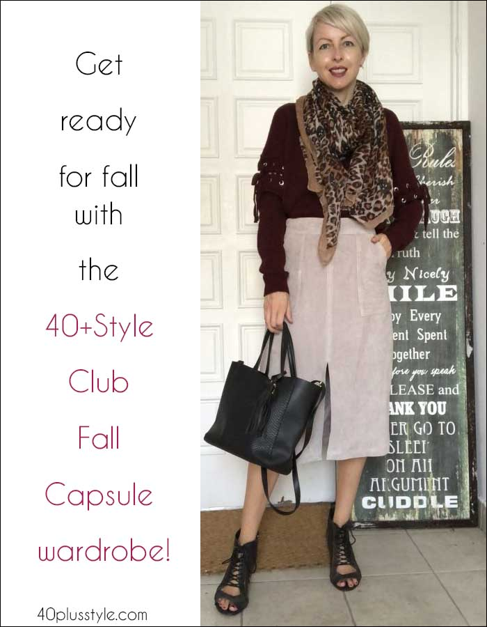 Get ready for fall with the 40+Style Club Fall Capsule wardrobe! | 40plusstyle.com