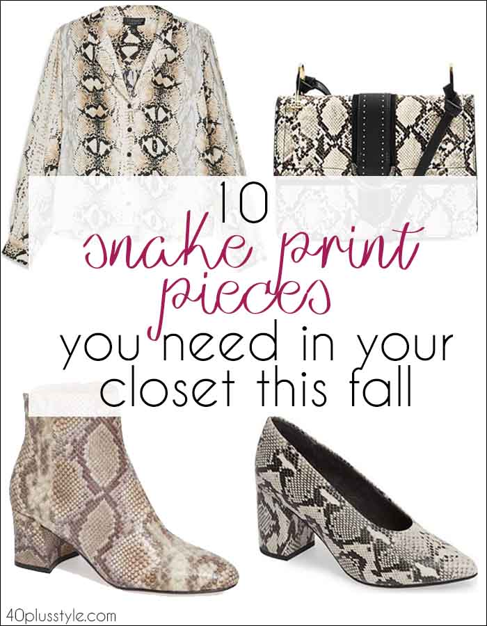 10 of the best snake print pieces - including some fabulous snakeskin booties | 40plusstyle.com