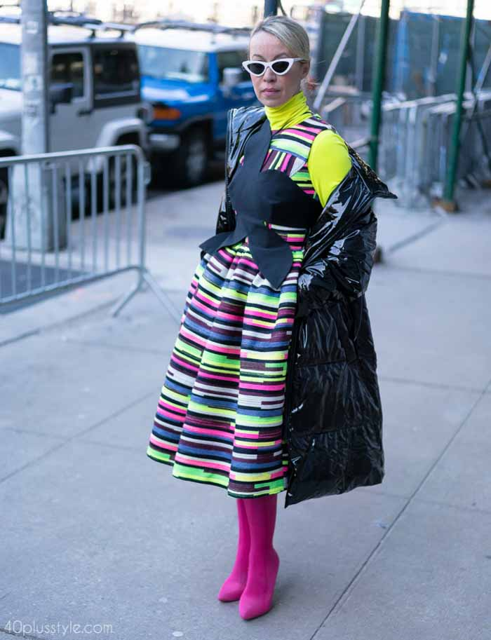 Bold looks - The best street style looks from New York fashion week | 40plusstyle.com