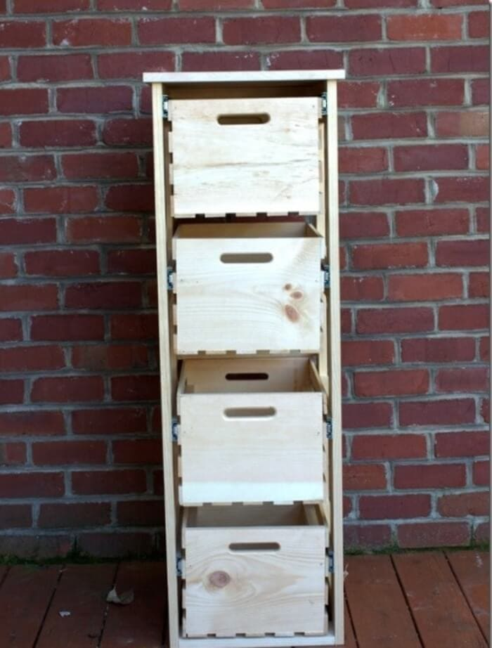 SLIDING CRATE DIY SMALL HOME PROJECTS IDEAS