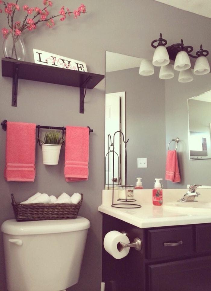 Оформление ванной комнаты текстилем