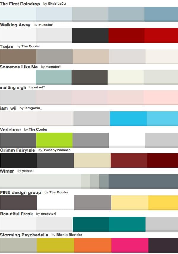 Colors that go with gray - the color palettes | 40plusstyle.com