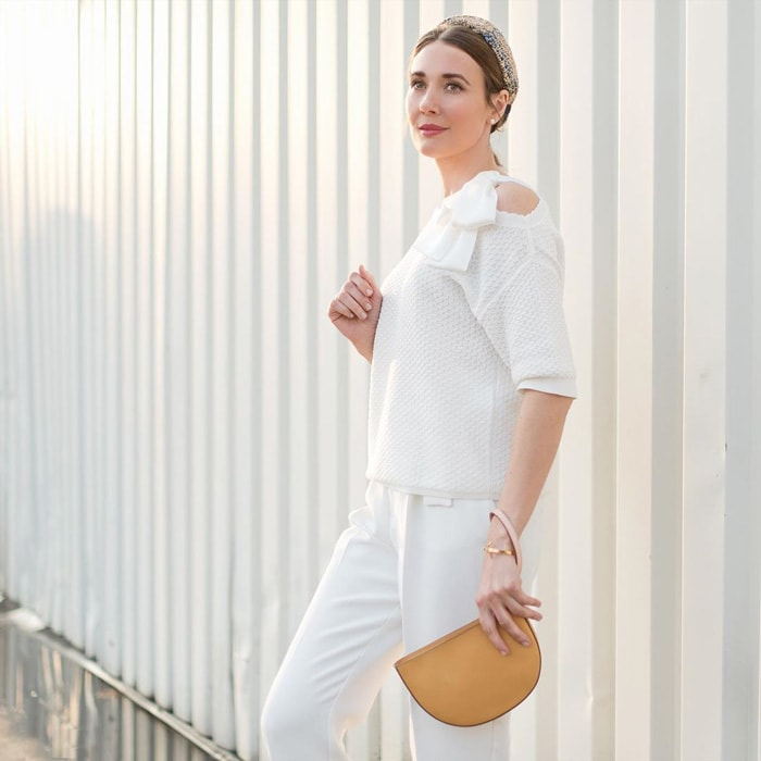 all white summer outfit idea | 40plusstyle.com