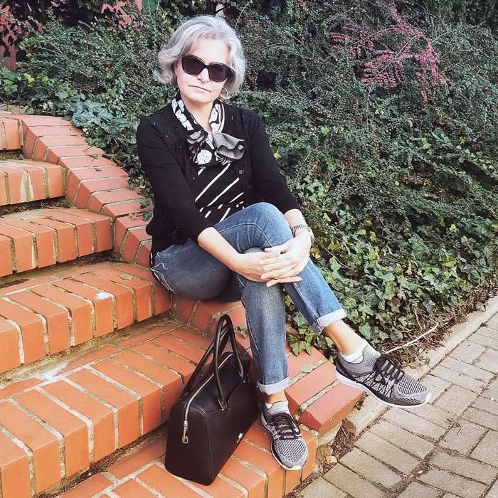 Ewa gray hair | 40plusstyle.com