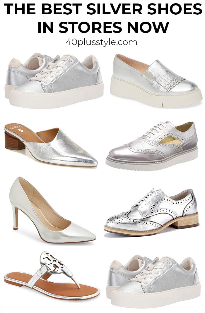 The best silver shoes for women over 40 | 40plusstyle.com